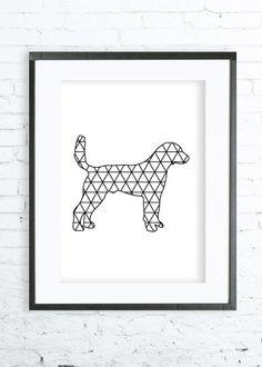 Dog Print Art, Instant Download Printable,  modern art, digital art, Print,Black and White, Dog art, Dogprint by DeziDezi on Etsy https://www.etsy.com/listing/221018664/dog-print-art-instant-download-printable