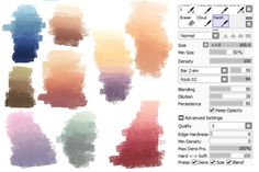 Favorite color scheme and brush settings by Availittle