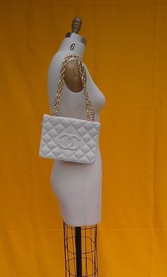Vintage quilted leather CHANEL clutch purse $35.00