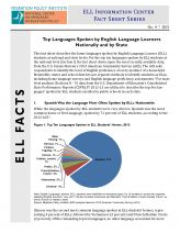"""""""Top Languages Spoken by English Language Learners Nationally and by State"""" -- article from the Migration Policy Institute about the most commonly-spoken languages by ELLs in the US, with interesting results."""