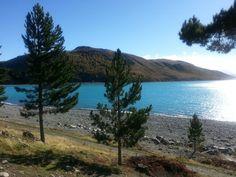 Beautiful lake in New Zealand