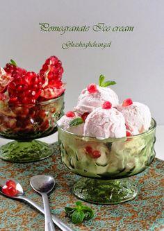 قاشق و چنگال : بستنی انار
