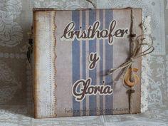 Heli Papeles ♥: Mini álbum Vintage para novios