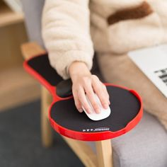 Mouse Pad Arm-stand Desk Extender – turn a chair into a suitable workstation with this attachment Home Office, Cool Office Desk, Office Chairs, Desk Chairs, Bar Chairs, Work Desk, Office Spaces, Small Office, Room Chairs