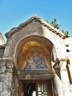 Kapnikarea Byzantine Church (11th century), Mother and Child Golden Mosaic, Ermou Str., Athens