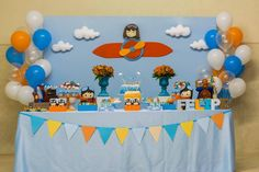 Little Wish Parties | Aeroplane First Birthday Party | https://littlewishparties.com