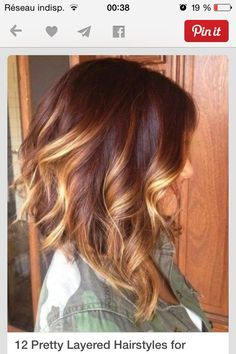 All ladies totally knows this truth, ombre hair colors really trending and popular now. And here you are most beautiful examples about Ombre Hair Long Bob. Medium Hair Styles, Curly Hair Styles, Hair Medium, Medium Curly, Medium Long, Hair Cuts For Medium Hair With Bangs, Red Ombre Hair, Red Hair Lob, Brown To Red Ombre