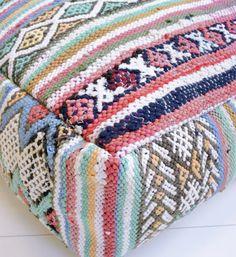 Moroccan Pouf : Moroccan kilim pouf 13
