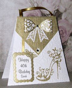 Handmade Personalised Birthday Card / / / / / etc 50th Birthday Cards For Women, Special Birthday Cards, 21st Birthday Cards, Handmade Birthday Cards, Birthday Invitations, Female Birthday Cards, Cumpleaños Diy, Tattered Lace Cards, Shaped Cards