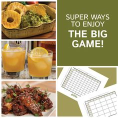 Let us help you plan the perfect party! Easy, prepare ahead recipes, cocktails, games, and more. Check it out! Football Snacks, Football Parties, Nfl Football, Game Day Snacks, Game Day Food, Great Recipes, Favorite Recipes, Yummy Recipes, Super Bowl 2016