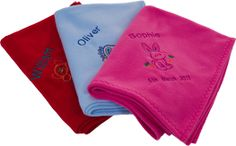 Customized blanket is highly appreciated as a new born baby gift. You can choose its embroidery design along with baby's name and date of birth.