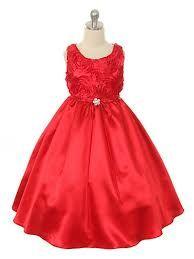red flower girl dress - Google Search