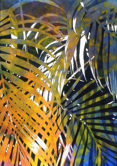 Transitions by Jaimie Cordero, Aquarelle Studios and Galleries Tropical Colors, Tropical Art, Tropical Leaves, Tropical Plants, Tropical Flowers, Watercolor Landscape, Watercolor Flowers, Watercolor Paintings, Watercolors
