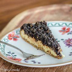 Tvarohový koláč s povidly a makovou drobenkou Spikes, French Toast, Food And Drink, Sweets, Breakfast, Cake, Ethnic Recipes, Poppy, Garden