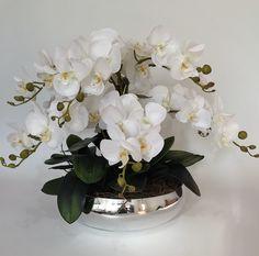 Orchid Flower Arrangements, Nylon Flowers, Corporate Flowers, Magnolia Flower, White Orchids, Christmas Centerpieces, Event Decor, Flower Decorations, Indoor Plants