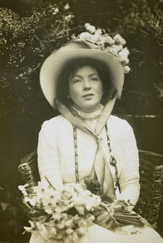 Portrait of Christabel Pankhurst: 1905-1914....a well to do and very pivital lady in the Suffragette movement