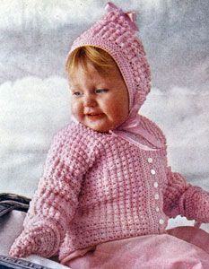 NEW! Crocheted Picot Set pattern from Baby Book Crocheted & Knitted, Star Book No. 153.