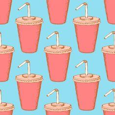 Sketch soda cup in vintage style by Cute sketch art on Creative Market
