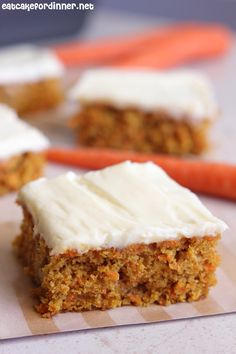 Eat Cake For Dinner: Carrot Cake Bars with Cream Cheese Frosting