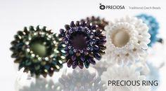 Best Seed Bead Jewelry  2017  A ring made from PRECIOSA Twin PRECIOSA Solo and PRECIOSA Candy