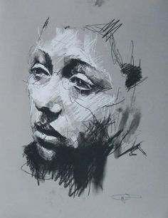 Guy Denning (born is a self taught English contemporary artist and painter based in France. He is the founder of the Neomodern. Life Drawing, Drawing Sketches, Painting & Drawing, L'art Du Portrait, Ap Art, Art Graphique, Drawing People, Contemporary Artists, Cool Drawings