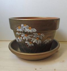 Hand Painted Pot Hand Painted Clay Pot Painted Pottery