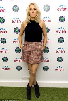 Ellie Goulding aces summer style at Wimbledon #dailymail