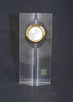 VINTAGE BULOVA QUARTZ HOYA CRYSTAL TOWER CLOCK WITH STICKER~# Y481-0880  | eBay