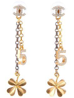 Chanel Vintage Charm Earrings