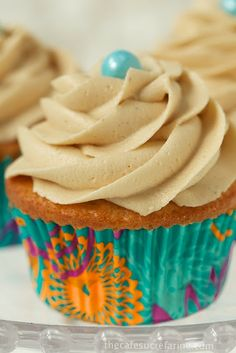 Vanilla Bean Cupcakes with Caramel Butter Cream