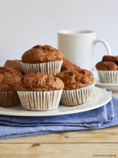 Walnut dried blueberry muffins