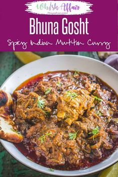 Bhuna Gosht or Mutton Bhuna is a rich and very flavorful curry where Mutton is cooked under low heat with various spices. via veg recipes Lamb Recipes, Tofu Recipes, Curry Recipes, Indian Food Recipes, Chicken Recipes, Cooking Recipes, Cooking Games, India Food, Mutton Curry Recipe