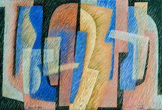""""""" BLUE IN ROSE """" - Têmpera vinílica sobre tela gessada sobre chassis - Dim 110 x 160 cms. - Data 2012"""