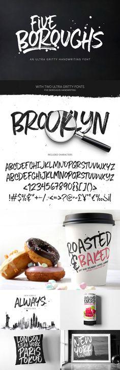 Five Boroughs Handwriting Font