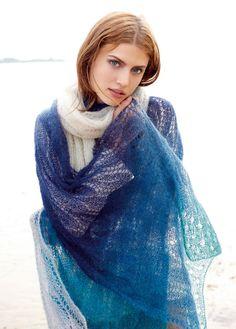 Lana Grossa XXL-SCHAL Silkhair Degradè - LACE No. 6 - Modell 37 | FILATI.cc WebShop