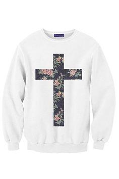 Flower Cross sweat shirt