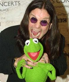 Meet Ozzy, and Kermit the Frog.    Repinning for my Mum <3 her 2 old faves :)