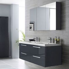 C24-series #furniture pack, #1440mm bathroom #vanity unit and mirror, high gloss , View more on the LINK: http://www.zeppy.io/product/gb/2/201339548025/