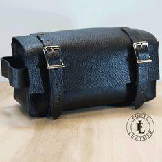 Black Leather Dopp Kit - Shaving Kit - Toiletry Bag - Travel Case