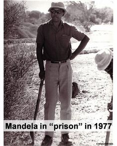 Welcome to Robben Island, South Africa - home to the infamous prison where Nelson Mandela spent 18 of his 27 years, along with over political prisone. Nelson Mandela Young, Nelson Mandela Biography, Winnie Mandela, Mandela Quotes, Mandela Art, First Black President, Poster Boys, Role Player, Black Presidents