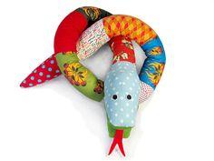 Scrap Snake plush toy easy pattern PDF INSTANT DOWNLOAD