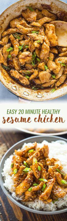 Healthier 20 Minute Sesame Chicken