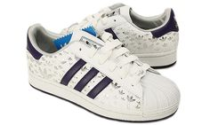 Adidas Originals Superstar II Trainer White Purple