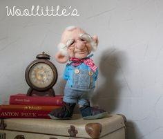 Handgefertigte Nadel Gefilzte Soft Skulptur Puppe  von Woollittles