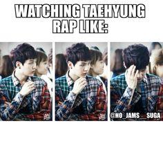 literally me when I saw V rap