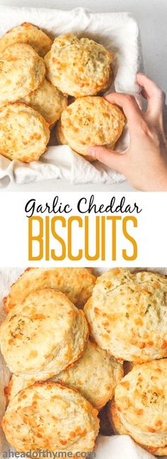 Cheddar Biscuits Garlic cheddar biscuits qualify as breakfast or a dinner side dish. These are packed with flavour and can be prepped for the oven in less than 15 minutes! Dinner Side Dishes, Dinner Sides, Breakfast Casserole, Breakfast Recipes, Breakfast Ideas, Breakfast Biscuits, Garlic Cheddar Biscuits, Egg Biscuits, Homemade Biscuits