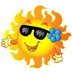 Soleil heureux avec des lunettes de soleil et illustration fleur de bande dessinée