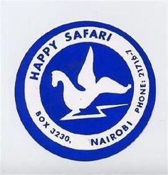 Happy-Safari-Luggage-Label-Sticker-Nairobi-Kenya-Africa-Winged-Animal