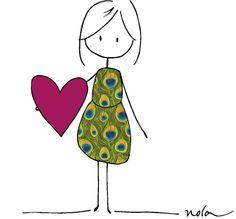 #peacock #dress #fashion #heart #love #norasdesk