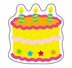 Mini Accents Birthday Cake 36Pk 3In $3.29